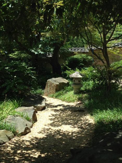 lantern and path